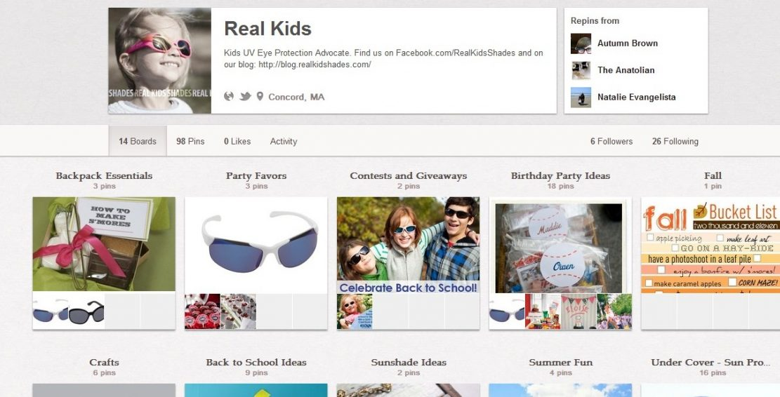 Real Kids Shades on Pinterest