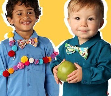 colorful kids clothes and accessories