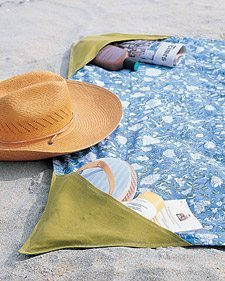 beach towel with pockets