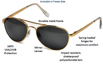 aviator sunglasses for teens