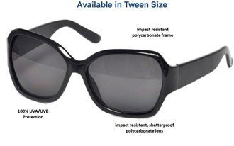 oversized sunglasses with UV protection for tweens
