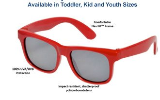 fashionable sunglasses with UV protection for kids