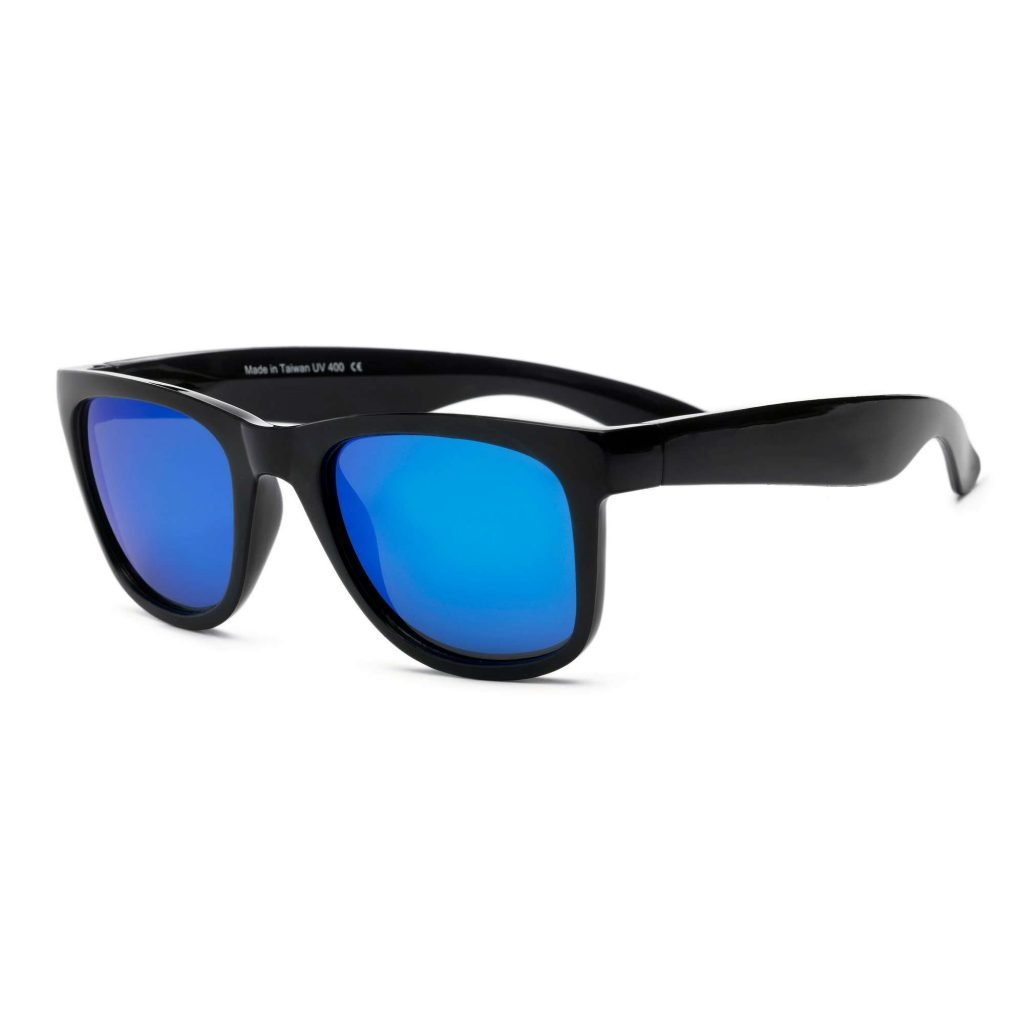 Waverunner Black with Blue Lens Sunglasses